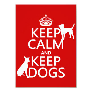 Carte Maintenez calme et gardez les chiens - toutes les