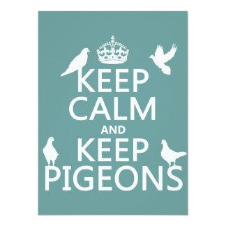 Carte Maintenez calme et gardez les pigeons - toutes les