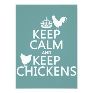 Carte Maintenez calme et gardez les poulets (toute