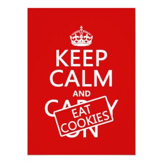 Carte Maintenez calme et mangez les biscuits