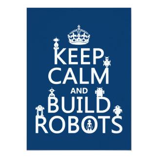 Carte Maintenez les robots calmes et de construction