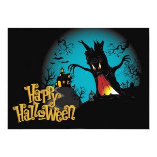 Carte Maison hantée par Halloween effrayante avec