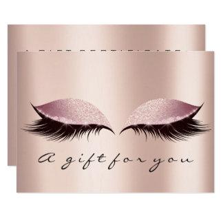 Carte Maquillage de beauté de mèche d'or de SPA de rose