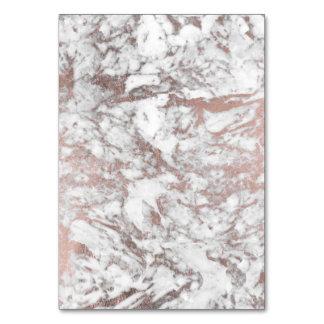 Carte Marbre rose d'or de faux blanc élégant moderne