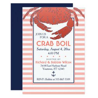 Carte Marchez en crabe la marine de l'ébullition