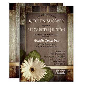 Carte Marguerite blanche de Gerbera sur la douche en
