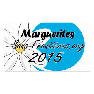 """Carte """"marguerites des prés sans Frontières 2015 Carte De Visite Standard"""
