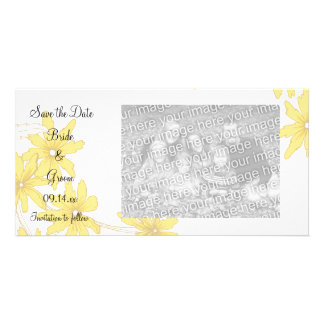 Carte Marguerites jaunes épousant des économies la date