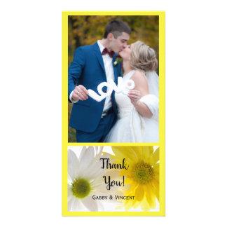 Carte Marguerites jaunes et blanches épousant le Merci
