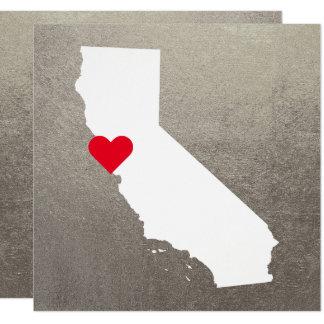 Carte Mariage blanc de la Californie d'aluminium