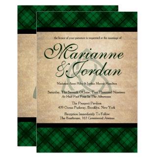 Carte Mariage celtique de plaid