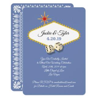 Carte Mariage de chapiteau de Las Vegas dans l'hortensia