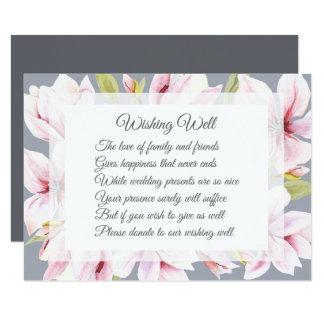 Carte Mariage de charme de magnolia souhaitant les