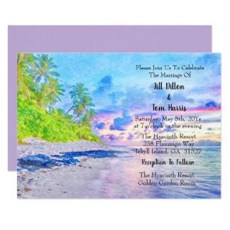 Carte Mariage de coucher du soleil de Palm Beach