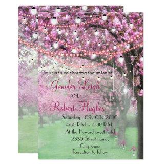 Carte Mariage de fleurs de cerisier