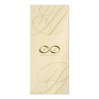 Carte Mariage de logo de fermoir de main d'infini