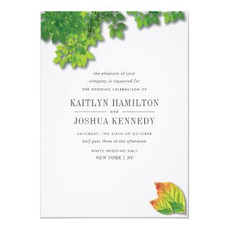 Carte Mariage élégant de chêne d'automne