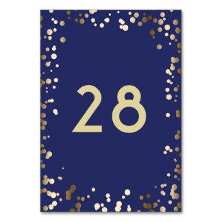 Carte Mariage élégant de marine de confettis d'or
