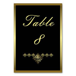 Carte Mariage élégant numéro 8 de noir et d'or