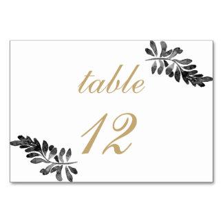 Carte Mariage floral d'aquarelle noire et rose d'or