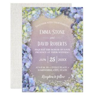 Carte Mariage floral de ressort d'aquarelle d'hortensia