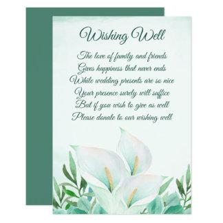 Carte Mariage floral de zantedeschia blanc souhaitant
