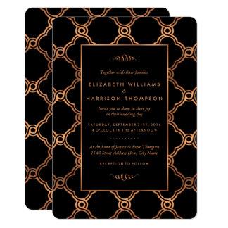 Carte Mariage géométrique vintage de Gatsby d'art déco