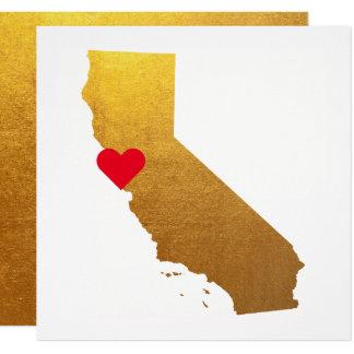 Carte Mariage métallique de la Californie d'aluminium