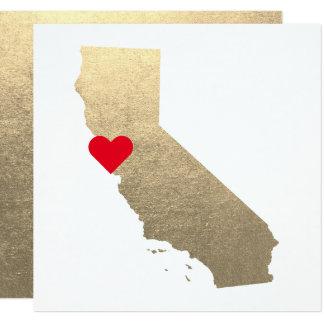 Carte Mariage métallique de la Californie d'aluminium de