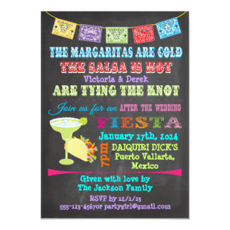 Carte Mariage mexicain de courrier de fiesta de tableau