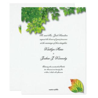 Carte Mariage minimaliste chic de chêne élégant