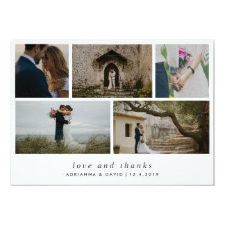 Carte Mariage minimaliste de photo de couples d'amour et
