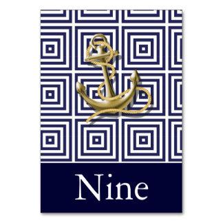 Carte Mariage nautique d'ancre de motif de bleu marine