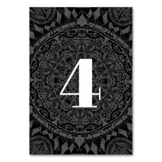 Carte Mariage noir et blanc de mandala
