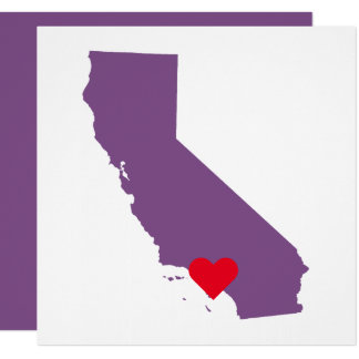 Carte Mariage pourpre de la Californie