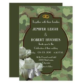Carte Mariage romantique d'armée