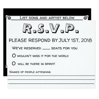 Carte Mariage RSVP (rétro)
