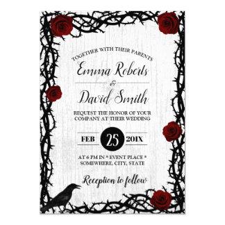 Carte Mariage rustique de conte de fées de cadre de rose