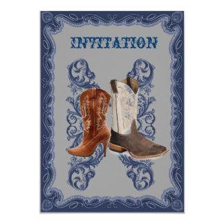 Carte Mariage rustique de cowboy de pays occidental