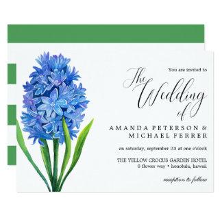 Carte Mariage rustique d'hortensia bleu à la mode de