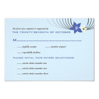 Carte Mariage tropical bleu de fleur de Frangipani