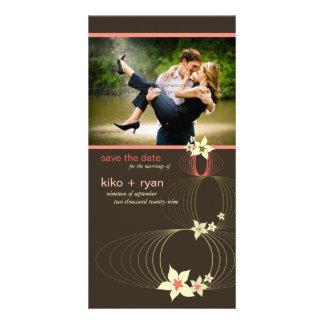 Carte Mariage tropical de fleur de rose de Frangipani