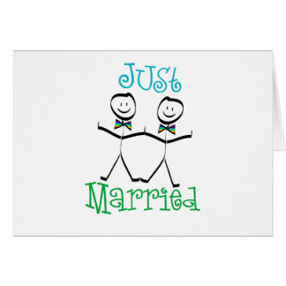 Carte mariée d'homosexuel juste