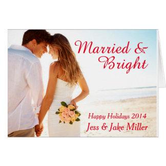 Carte mariée et lumineuse de vacances