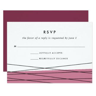 Carte | Marsala de la linéation RSVP Carton D'invitation 8,89 Cm X 12,70 Cm