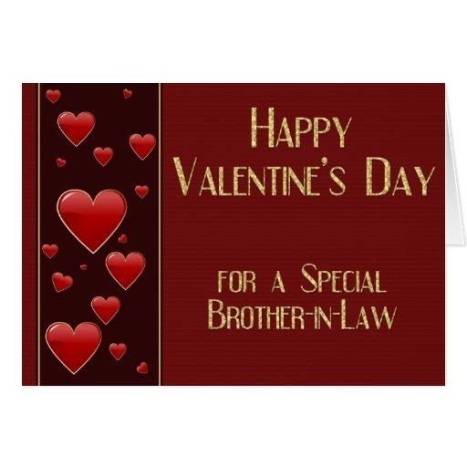 Carte masculine de Valentine de beau-frère spécial