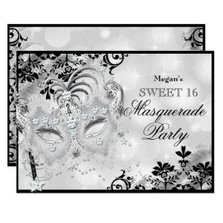 Carte Masque de bijou du bonbon 16 et mascarade d'argent