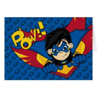 Carte masquée de super héros
