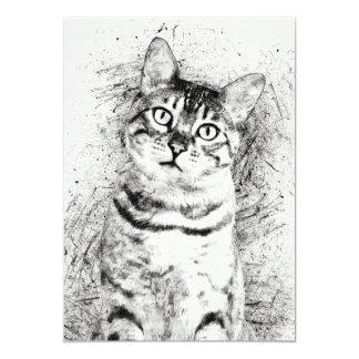 """Carte Médias mélangés de portrait de chat sur 5"""" x 7"""" de"""