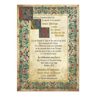 Carte médiévale de faire-part de mariage de